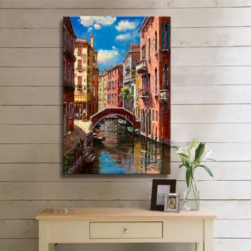 Asırlık Venedik Evleri Kanvas Tablo