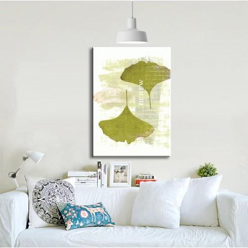 Minimal Evler için Fil Kulağı Yaprağı Dikey Kanvas Tablo
