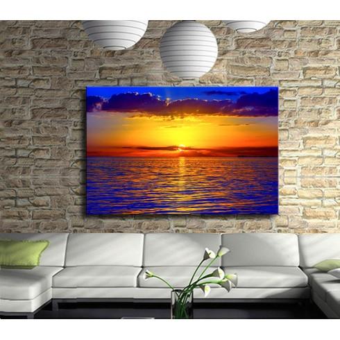 Akşam Güneşi ve Deniz Kanvas Tablo