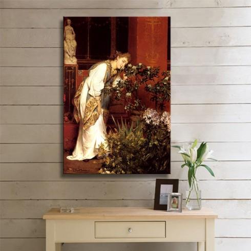 Alma Tadema Sir In the Peristyle Kanvas Tablo