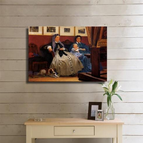 Alma Tadema Sir My Studio Kanvas Tablo