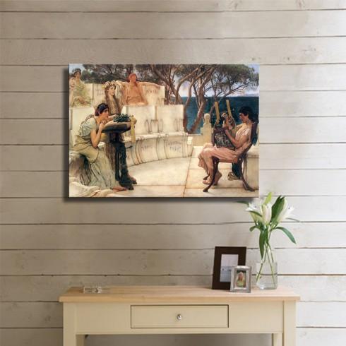 Alma Tadema Sir Sappho and Alcaeus Kanvas Tablo