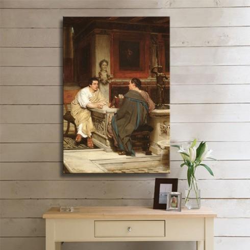 Alma Tadema Sir The Discourse A Chat Kanvas Tablo