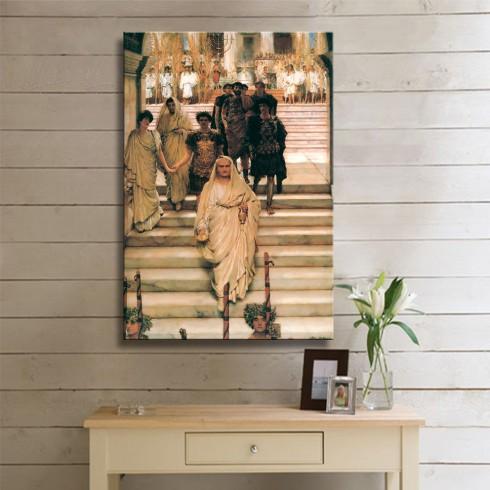Alma Tadema Sir The Triumph of Titus Kanvas Tablo