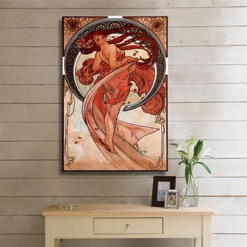 Alphonse Mucha Dance Kanvas Tablo
