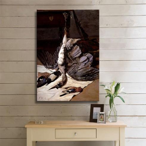 Bazille Jean frederic The Heron Kanvas Tablo