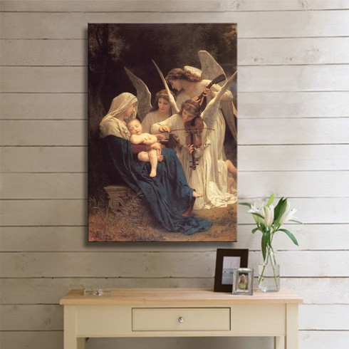 Bouguereau William Song of the Angels KANVAS TABLO