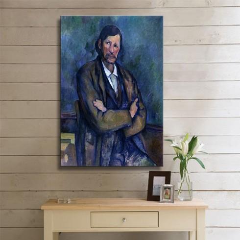 Cezanne Paul  Homme aux bras croises KANVAS TABLO