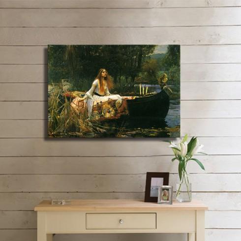 The Lady of Shalott  John William Waterhouse Kanvas Tablo