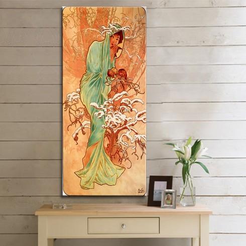 Alphonse Mucha Winter Kanvas Tablo