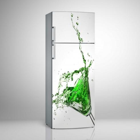 Buzdolabı Sticker Yeşil ve Beyazın Muhteşem Uyumu Beyaz Eşya Stickerları