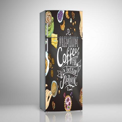 Buzdolabı Sticker coffe İçin Hazırlanmış Beyaz Eşya Stickerları