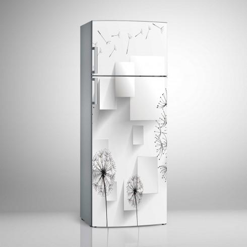 Buzdolabı Sticker Dünyayı Gezen Çiçekler ve Boyutlar Beyaz Eşya Stickerları
